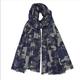 Somerville - Cashmere Camouflage Print Scarf Grey