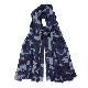 Somerville - Navy Cashmere Camouflage Print Scarf