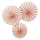 Ginger Ray - Pastel Pink Circle Fan Pinwheel Decorations - pastel pink - Pastel pink