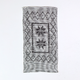 casa atlantica - Black and white striped rug - cotton | 100x50 | black | WHITE MARSALA - Black/Black