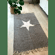Luna - Large Grey Rug with White Star