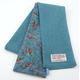 Helen Chatterton Textiles - Turquoise Purple Herringbone Feather Skinny Scarf