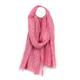 Pom Amsterdam - Soft Washed Lurex Dash Scarf 2 Colours - Pink