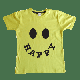 Little Mashers - Yellow Happy Smiley Face Printed Kids T Shirt - 9-10 yrs
