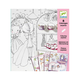 Djeco - Pupis Little Doors Colouring Book - Pink/White