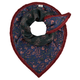 Pom Amsterdam - Sparkle Flowers Scarf - One Size - Red/Blue/Pink