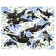 Kozyndan - Captives Orcas And Pandas Limited Edition Print - Blue/Black/White