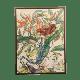 Framed Art - Framed Botanical Print (30x40) - Brown/Pink/Blue