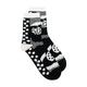 Henrik Vibskov - Black Heartbeat Socks - ONE SIZE - Black/White