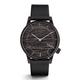 Komono - Graphite Leather Winston Watch - Black