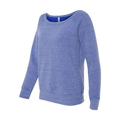 Bella + Canvas 8.2 oz. Triblend Slouchy Wide Neck Fleece (7501) -BLUE TRIBL -L