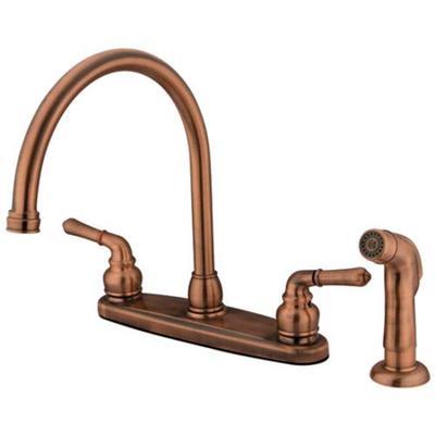 Kingston Brass KB796SP 8-Inch Centerset Kitchen Faucet, Antique Copper