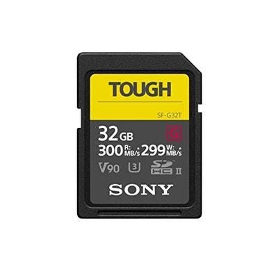 Sony Tough High Performance 32GB SDXC UHS-II Class 10 U3 Flash Memory Card with Blazing Fast Read Sp