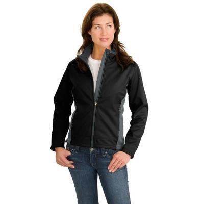 Port Authority Women's Two Tone Soft Shell Jacket XXL Black/Graphite