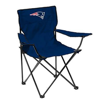 Logo Brands NFL England Patriots Quad Chair Quad Chair, Navy, One Size