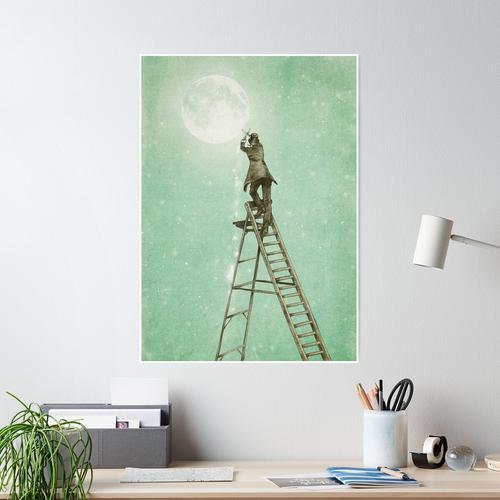 Abnehmender Mond Poster