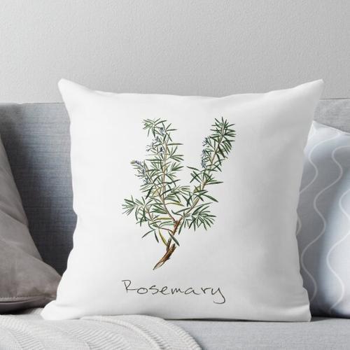 Rosmarin-Kraut, Rosmarin-Pflanze, Rosmarin-Druck, Rosmarin-Kunstdruck Kissen