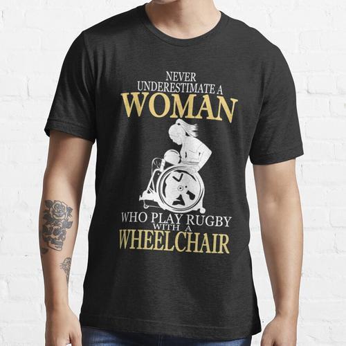 ROLLSTUHL FRAU LIEBE RUGBY Essential T-Shirt