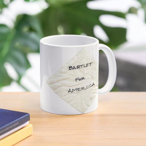 Bartlet für amerikanische Serviette Tasse