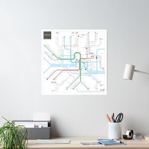 Stockholm Metro Karte Poster