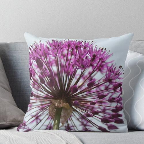Lila Allium Kissen