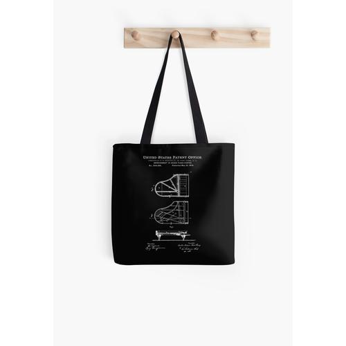 Steinway Klavierlack Weiß Tasche