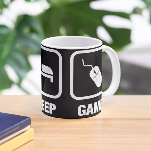 Eat Sleep Game Gamer Tee Tasse