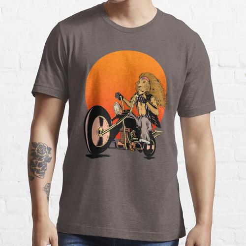 Löwe, Katze, Biker - Motorräder, Motorradbekleidung, Fahrräder Essential T-Shirt