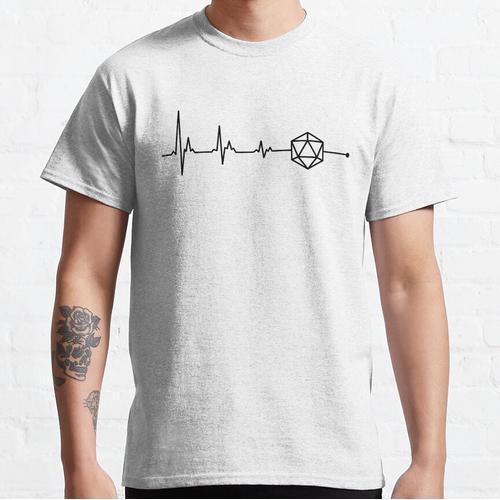 Herzschlag D20 Würfel Classic T-Shirt