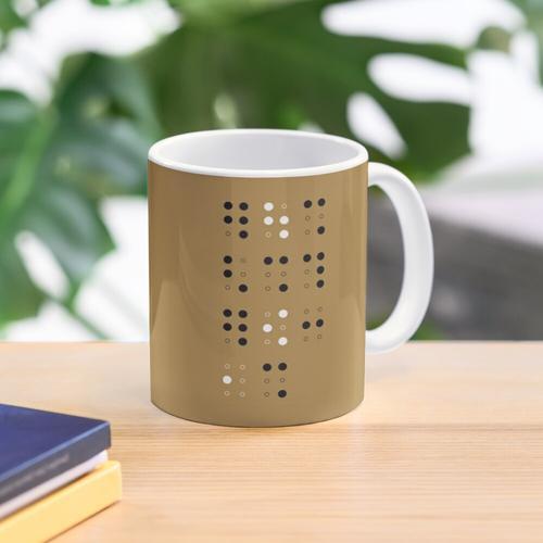 Braille # 1 Tasse
