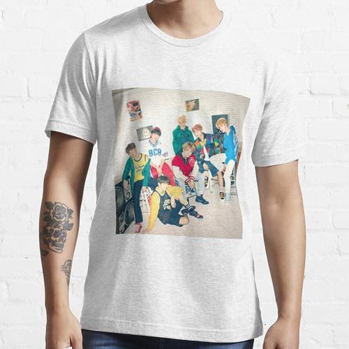 BTS MIC Tropfen / DNA / Kristallschnee Essential T-Shirt