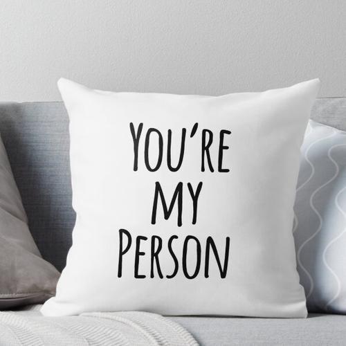 Du bist mein persönlicher Freund Zitat Kissen