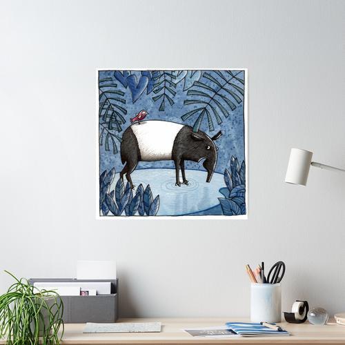 Welcome To The Jungle - Tapir - Schabrackentapir Poster