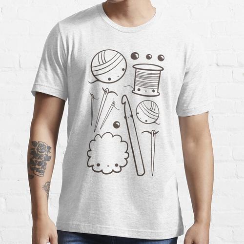 süß häkeln - Kawaii Bastelbedarf Essential T-Shirt