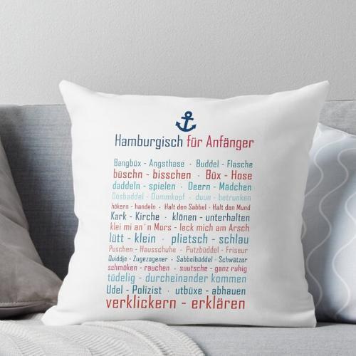 Hamburg, Dialekt, Norddeutsch, Hamburger Hafen, Hamburger Perle Kissen