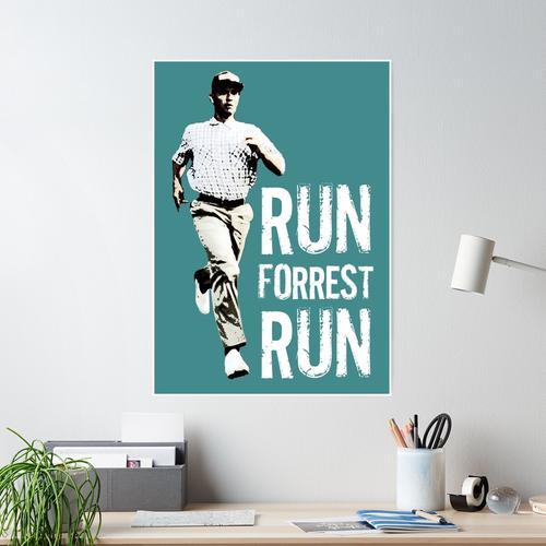 Run Forest Run (Forest Gump) Poster