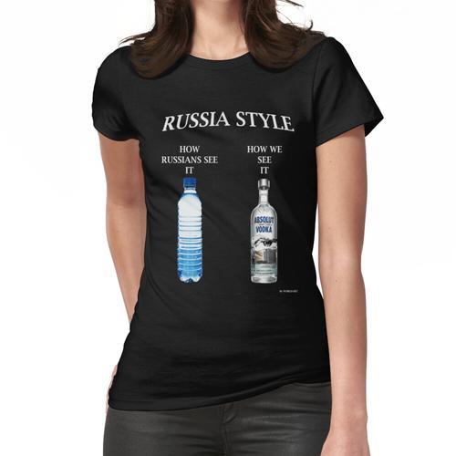 Russland Wodka-Stil Frauen T-Shirt