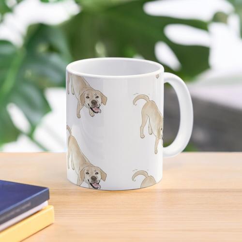 Gelbes Labrador Tasse
