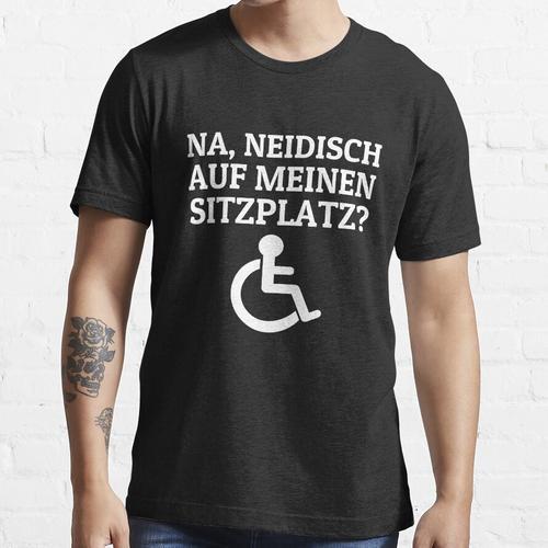 Rollstuhlfahrer Rollifahrer Rollstuhl Sprüche Essential T-Shirt