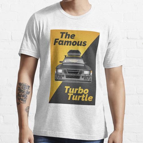 Saab 900 - Turbo Turtle (Großformatdruck) Essential T-Shirt