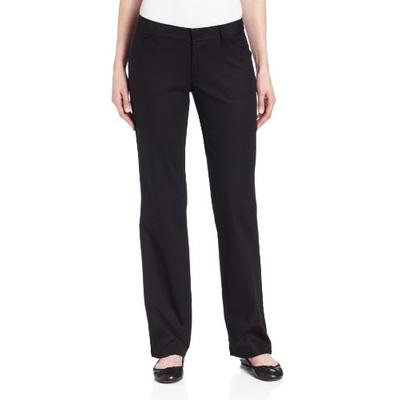 Dickies Women's Relaxed Straight Stretch Twill Pant, Black, 4 Regular