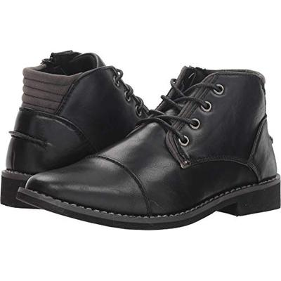 Deer Stags Boys' Hamlin Memory Foam Dress Comfort Cap Toe Boot, Black 3 Medium US Little Kid