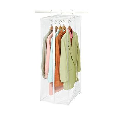 """Richards Homewares Clearly Organized Dress Bag Clear Vinyl Storage Maxi Rack Suit Garment Cover 15"""""""