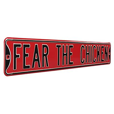 "NCAA Fear The Chicken South Carolina Street Signstreet Sign, Team Color, 36"" x 6"""