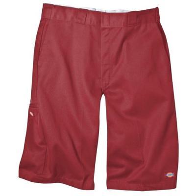 Dickies Men's 13 Inch Loose Fit Multi-Pocket Work Short, English Red 30