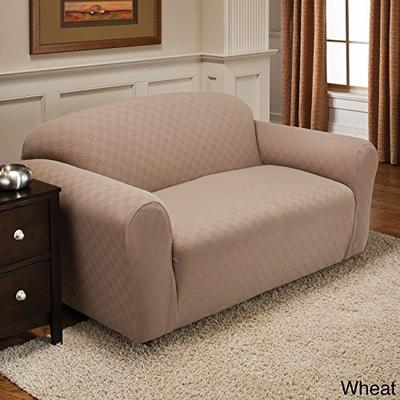 Stretch Sensations Newport Sofa Stretch Slipcover, Wheat