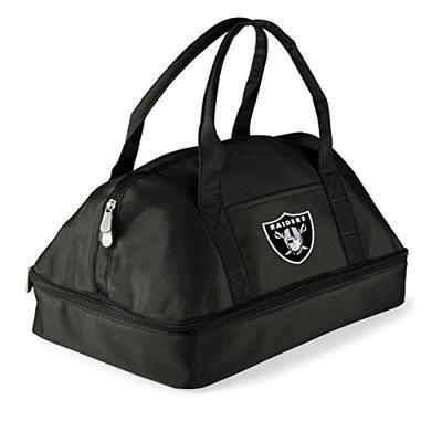 PICNIC TIME NFL Oakland Raiders Potluck Insulated Casserole Tote