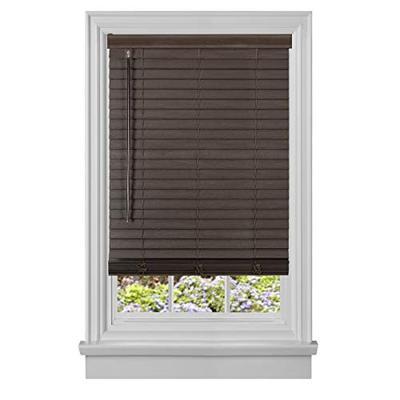 "Achim Home Furnishings Cordless GII Madera Falsa 2"" Faux Wood Plantation Blind 39"" x 64"", Mahogany"
