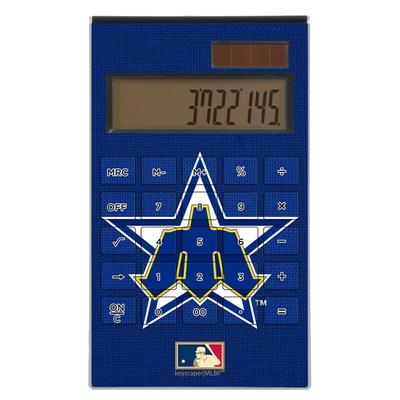 """Seattle Mariners 1981-1986 Cooperstown Solid Design Desktop Calculator"""