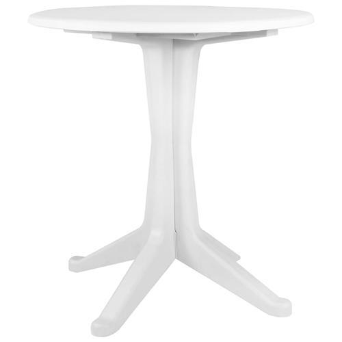 vidaXL Gartentisch Weiß 70 cm Kunststoff